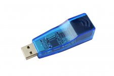 USB 2.0 Ethernet RJ45 Network Adapter QF9700
