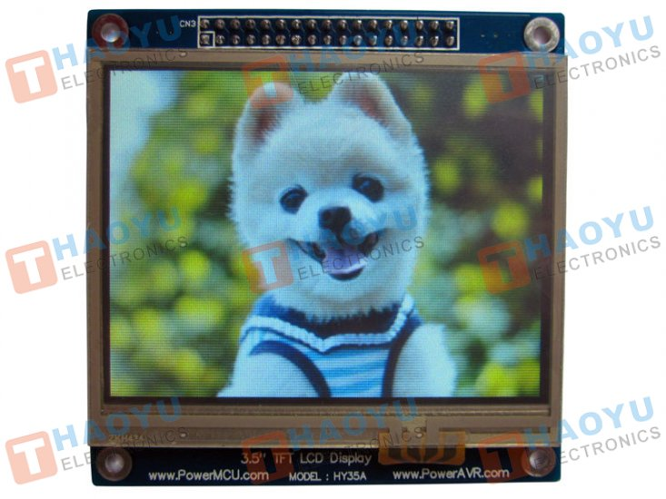 "3.5"" Touch Screen TFT LCD with 16 bit parallel interface - Click Image to Close"