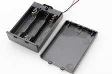 Battery Holder with Switch - 3 x AA