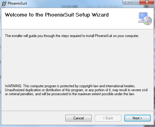 How to use PhoenixSuit to Flash New Image to MarsBoard A10/A20 - wiki