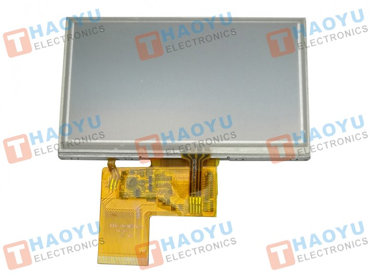 "4.3"" inch 800x480 IPS LCD Display + Touch Panel, Standard 40 PIN - Click Image to Close"