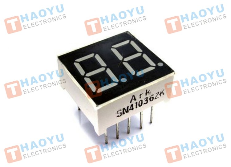 "0.36"" Dual Digit Numeric Display Common Cathode - Click Image to Close"