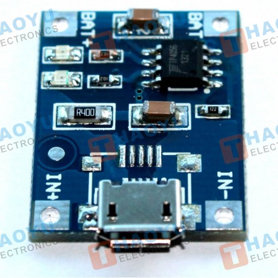 TP4056 - Micro USB 5V 1A Lithium Battery Charger Module - Click Image to Close