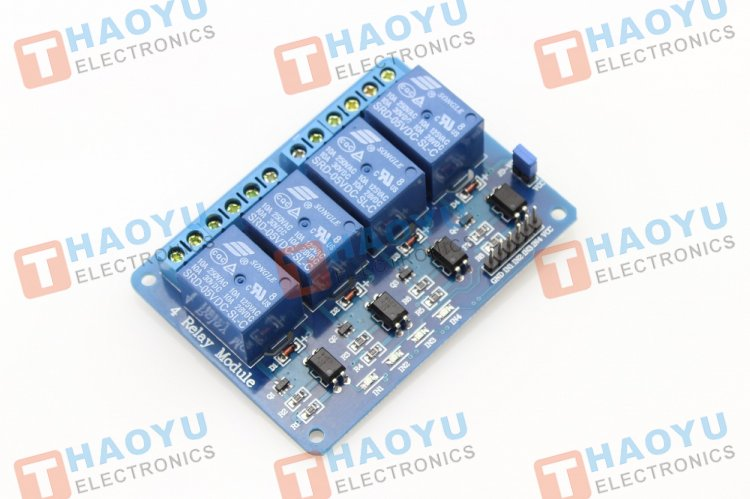 4-Channel Relay Module-10A - Click Image to Close