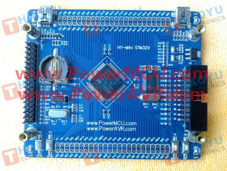 "HY-MiniSTM32V Dev Board + 3.2"" TFT LCD Module - Click Image to Close"