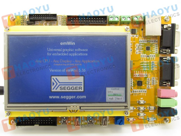 "HY-LPC1788 Development Board with 5"" Touch Screen TFT LCD - Click Image to Close"