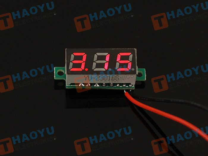 0.28 inch LED digital DC voltmeter - Red - Click Image to Close