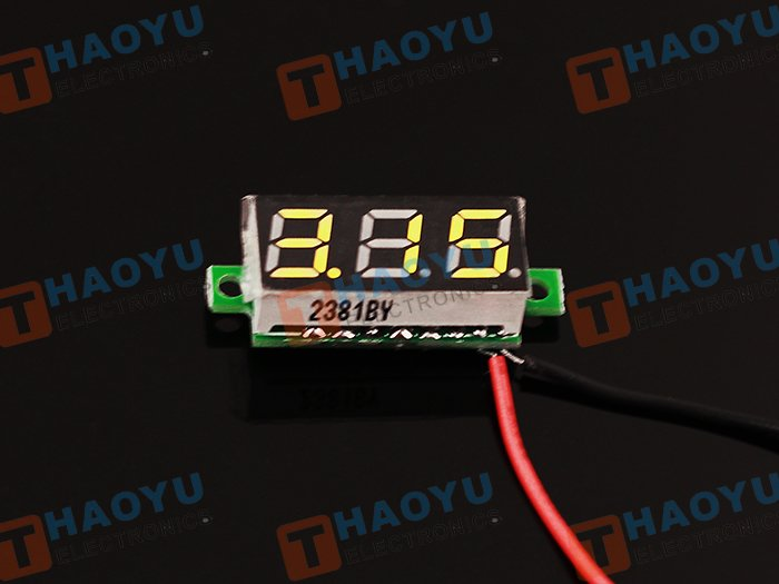 0.28 inch LED digital DC voltmeter - Yellow - Click Image to Close