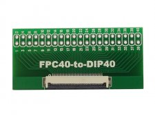 FPC 0.5mm pitch 40P to DIP40 connector adapter board