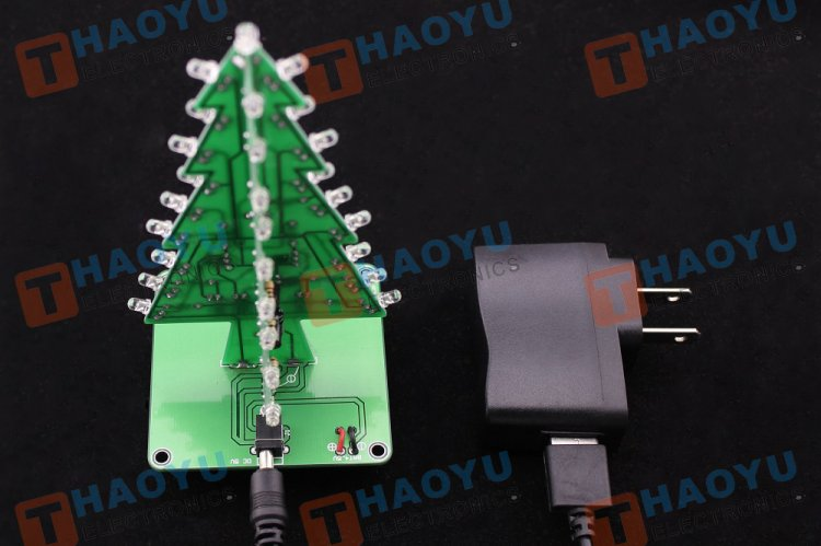 Flashing Christmas Tree Kit(Assembled) - Click Image to Close