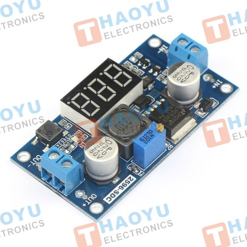 LM2596 Step Down DC-DC Converter With Voltage Meter Power Module - Click Image to Close