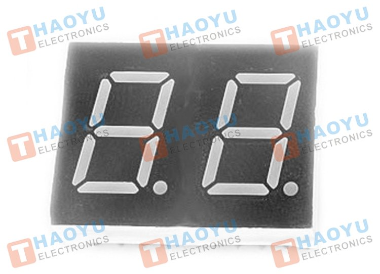 "0.56"" Dual Digit Numeric Display Common Cathode - Click Image to Close"