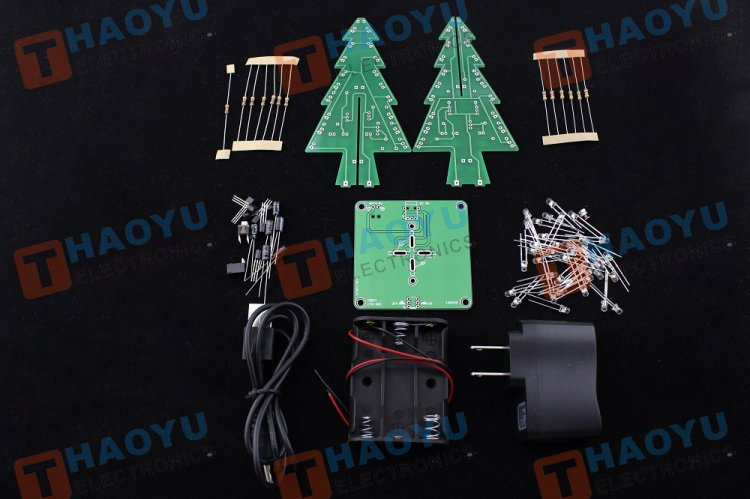 Flashing Christmas Tree Kit - Click Image to Close